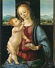 Leonardo da Vinci Madonna and Child with a Pomegranate painting