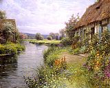 Louis Aston Knight A Bend in the River painting