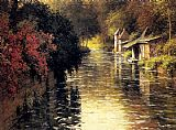 Louis Aston Knight A French River Landscape painting