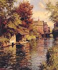Louis Aston Knight Sunny Afternoon on the Canal painting