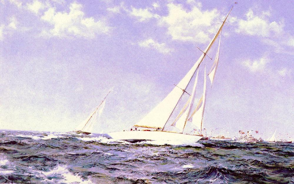 Montague dawson the americas cup race painting best for Americas best paint