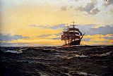 Montague Dawson Evening Shadows painting