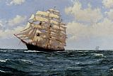 Montague Dawson Under Sail painting