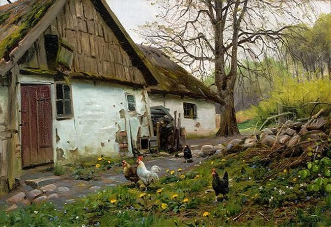 Peder Mork Monsted Bromolle Farm with Chickens