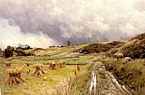 Peder Mork Monsted A Pastoral Landscape after a Storm painting