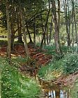 Peder Mork Monsted Landscape With Deer painting