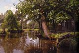 Peder Mork Monsted On the River painting