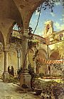 Peder Mork Monsted The Cloister, Taormina painting