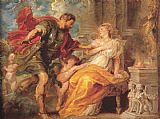 Peter Paul Rubens Mars and Rhea Silvia painting