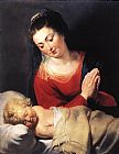 Peter Paul Rubens Virgin in Adoration before the Christ Child painting