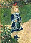 Pierre Auguste Renoir A Girl with a Watering Can painting