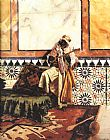 Rudolf Ernst Gnaoua in a North African Interior painting