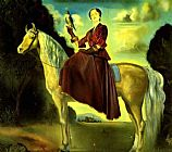 Knight paintings - Equestrian Fantasy - Portrait of Lady Dunn by Salvador Dali