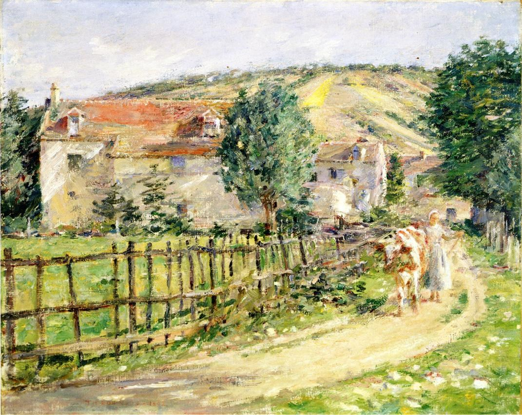 Theodore Robinson Road by the Mill