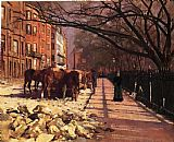 Theodore Robinson Beacon Street Boston painting
