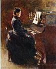 Theodore Robinson Girl at Piano painting