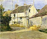 Theodore Robinson House with Scaffolding painting