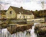 Theodore Robinson On the Canal painting