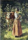 Theodore Robinson The Cowherd painting
