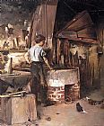 Theodore Robinson The Forge painting
