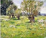 Theodore Robinson Willows and Wildflowers painting