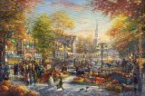 Thomas Kinkade The Pumpkin Festival painting