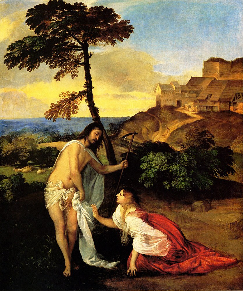 Titian Paintings   Titian Noli Me Tangere Painting