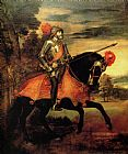 Knight paintings - Emperor Charles by Titian