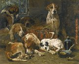Unknown Artist New Forest Hunt Dogs painting