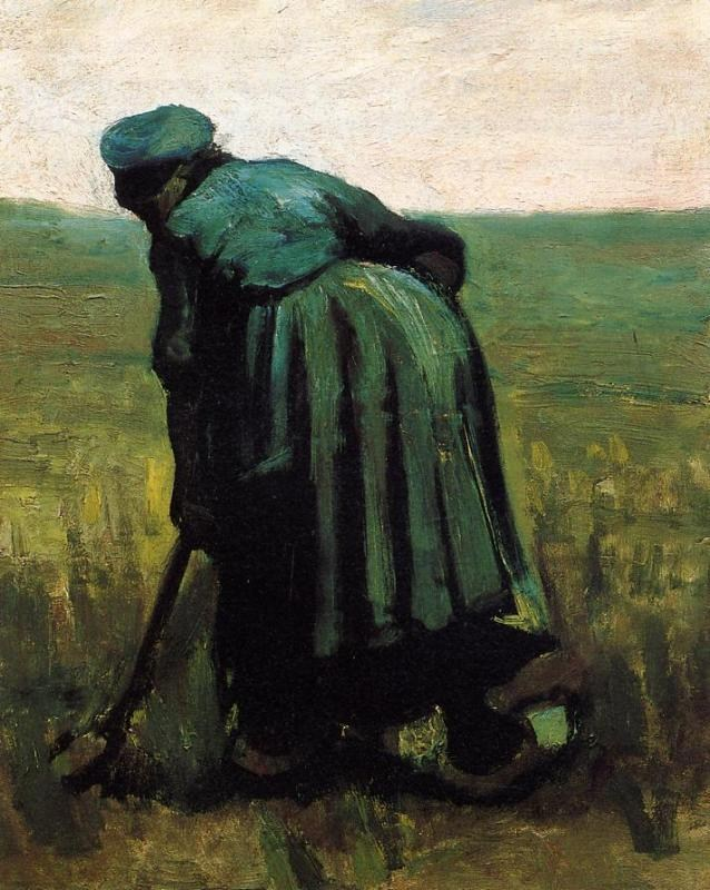 Vincent van Gogh Peasant Woman Digging
