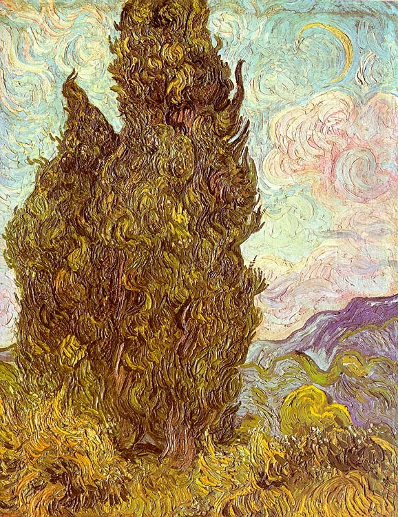 Vincent van Gogh Two Cypresses