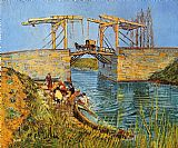 Vincent van Gogh The Langlois Bridge at Arles with Women Washing painting