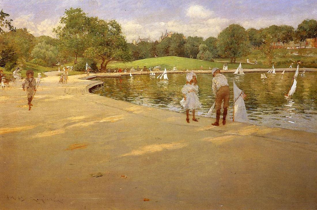 William Merritt Chase The Lake for Miniature Yachts