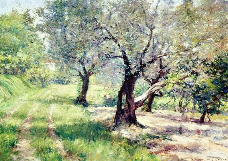 William Merritt Chase The Olive Grove