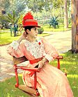 William Merritt Chase Afternoon in the Park painting