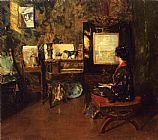 William Merritt Chase Alice in the Shinnecock Studio painting