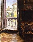 William Merritt Chase Venetian Balcony painting