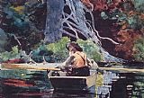 Winslow Homer The Red Canoe painting