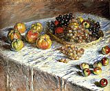 the kiss (le baiser _ il baccio) Paintings - Still Life Apples And Grapes
