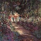 Claude Monet The garden in flower painting