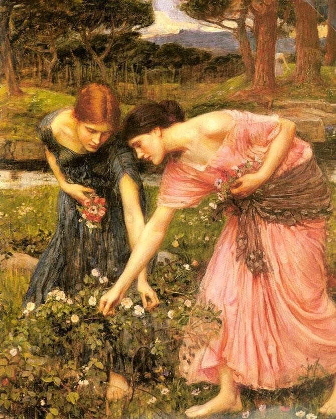 John William Waterhouse Gather ye rosebuds while ye may