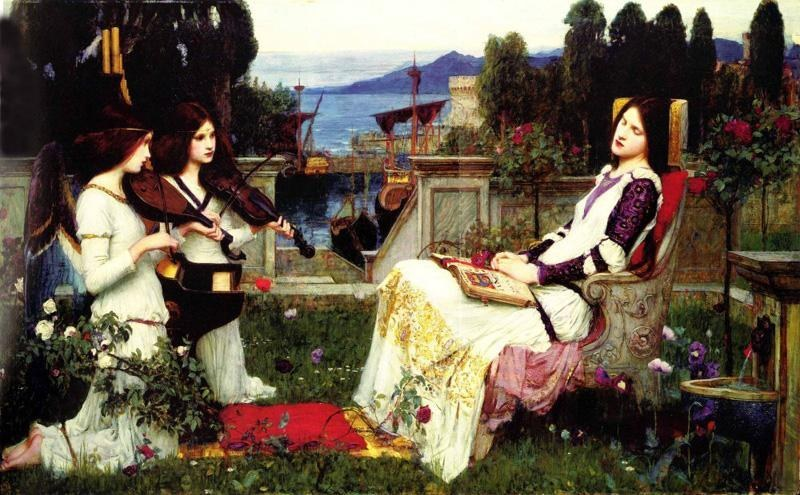 John William Waterhouse waterhouse Saint Cecilia