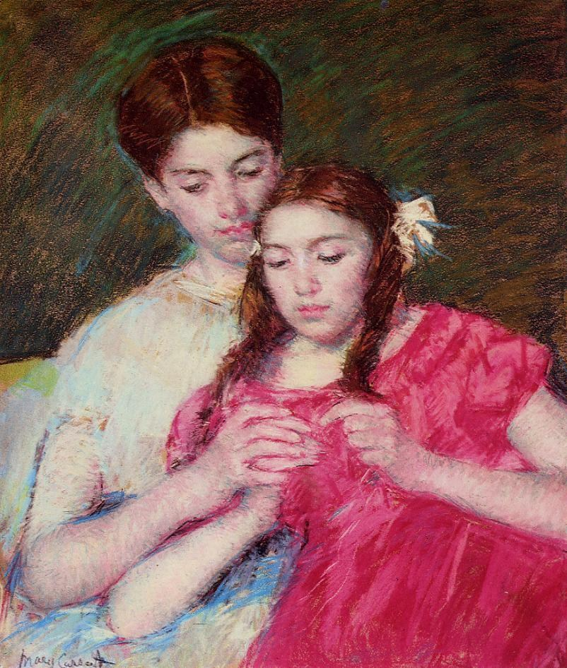 Crochet Lessons : Mary Cassatt The Crochet Lesson Painting Best Paintings For Sale