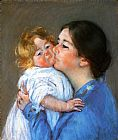 Mary Cassatt A Kiss For Baby Anne painting