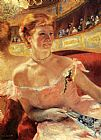 Mary Cassatt Woman With A Pearl Necklace In A Loge painting