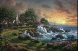 Thomas Kinkade Seaside Haven painting
